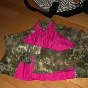 Long sleeve camouflage zip up